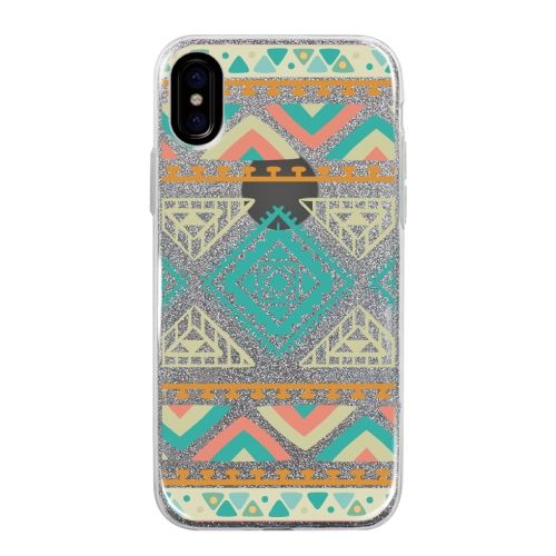iPhone X ケース グリッターケース Indian pattern iPhone X_0