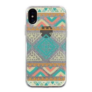 グリッターケース Indian pattern iPhone X