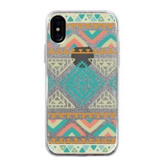 グリッターケース Indian pattern iPhone X