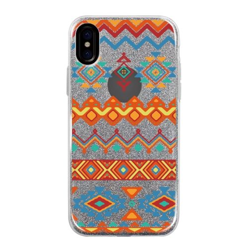【iPhone Xケース】グリッターケース Ethnic pattern iPhone X_0