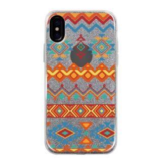 グリッターケース Ethnic pattern iPhone X