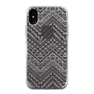 グリッターケース jagged Monochrome iPhone X