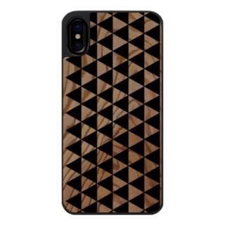 【iPhone Xケース】ウッドカービングケース triangle loop iPhone X