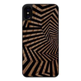 ウッドカービングケース Swirl loop iPhone X
