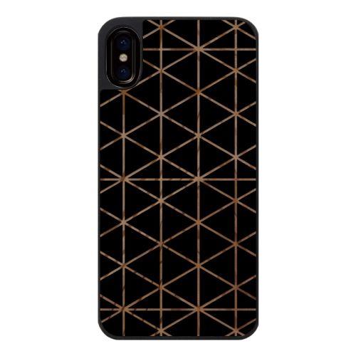 iPhone X ケース ウッドカービングケース Top triangle iPhone X_0
