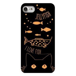 ウッドカービングケース Cats like fish iPhone 7