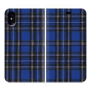 手帳型ケース Tartan-Blue iPhone X