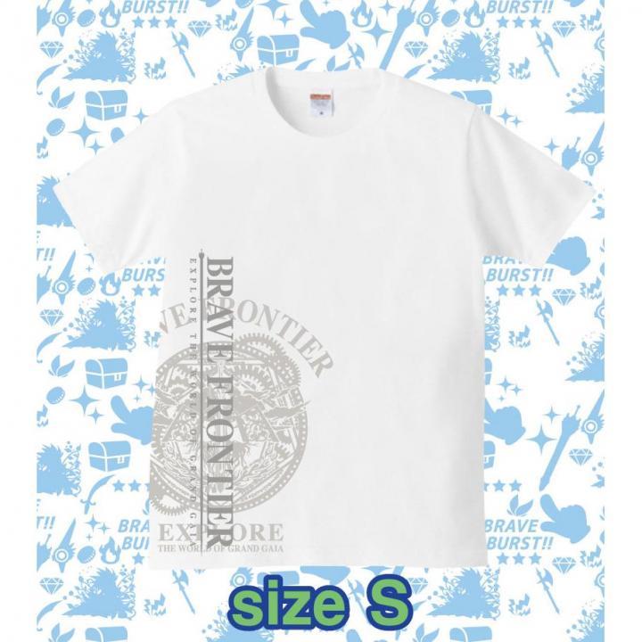 ブレイブフロンティア オリジナルTシャツ(ホワイト×グレー)Sサイズ_0