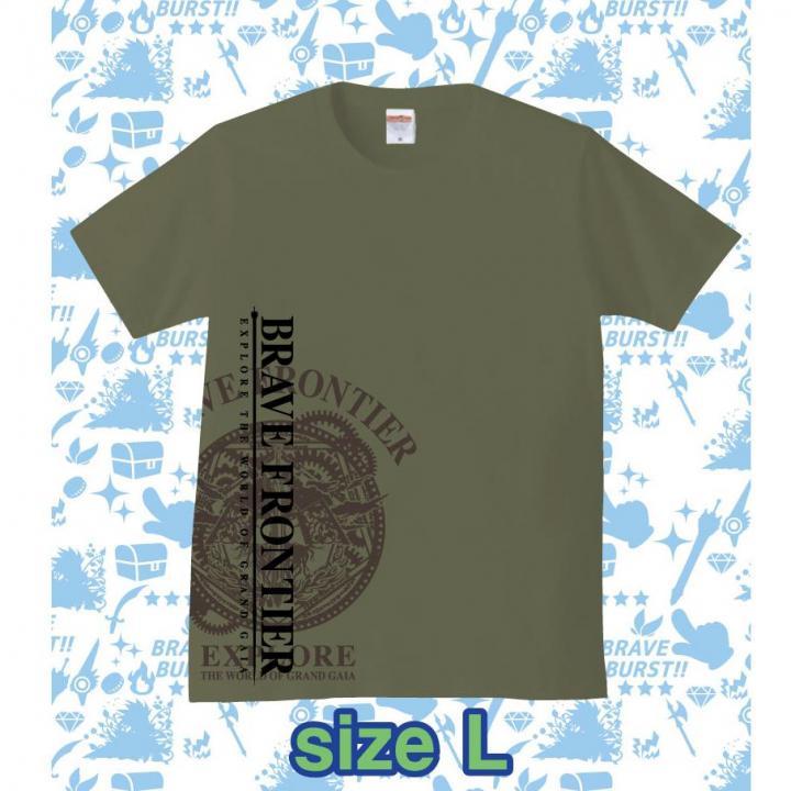 ブレイブフロンティア オリジナルTシャツ(セメント×ブラウン)Lサイズ_0