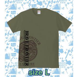 ブレイブフロンティア オリジナルTシャツ(セメント×ブラウン)Lサイズ