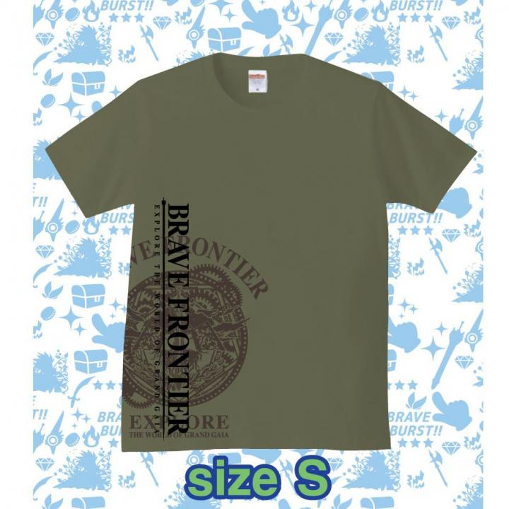 ブレイブフロンティア オリジナルTシャツ(セメント×ブラウン)Sサイズ