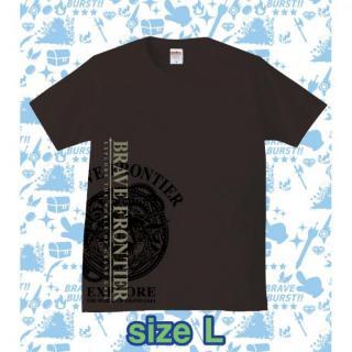ブレイブフロンティア オリジナルTシャツ(ブラック×グレー)Lサイズ