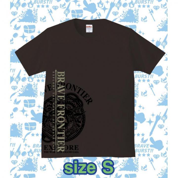 ブレイブフロンティア オリジナルTシャツ(ブラック×グレー)Sサイズ_0