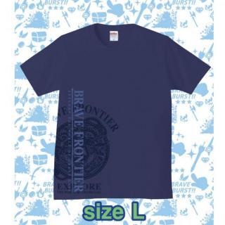 ブレイブフロンティア オリジナルTシャツ(インディゴ×パープル)Lサイズ