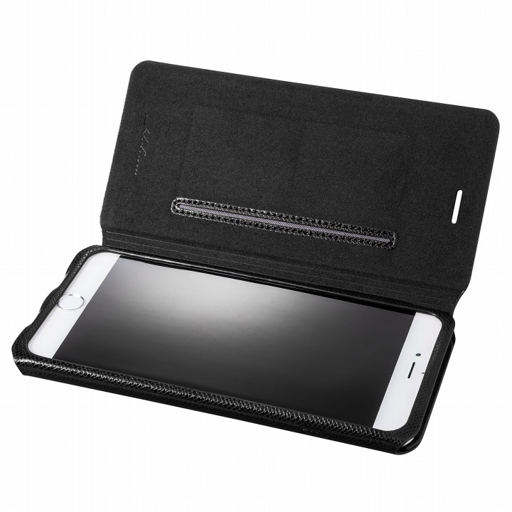 Helium 薄型 One Sheet PUレザー手帳型ケース ブラック iPhone 6s Plus/6 Plus