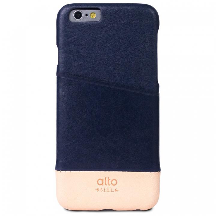 【iPhone6s/6ケース】カードホルダー搭載 本革製ケース alto Metro ネイビー/オリジナル iPhone 6s/6_0