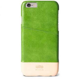 カードホルダー搭載 本革製ケース alto Metro グリーン/オリジナル iPhone 6s/6