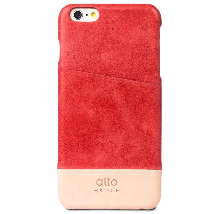iPhone6s Plus/6 Plus ケース カードホルダー搭載 本革製ケース alto Metro レッド/オリジナル iPhone 6s Plus/6 Plus_0