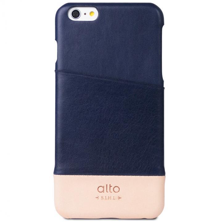 【iPhone6s Plus/6 Plusケース】カードホルダー搭載 本革製ケース alto Metro ネイビー/オリジナル iPhone 6s Plus/6 Plus_0