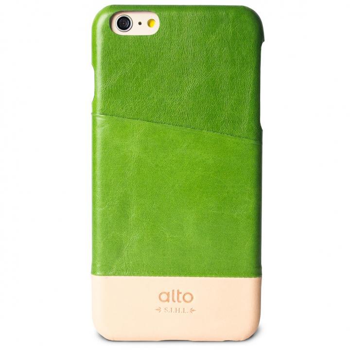【iPhone6s Plus/6 Plusケース】カードホルダー搭載 本革製ケース alto Metro グリーン/オリジナル iPhone 6s Plus/6 Plus_0