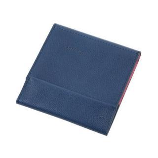 薄い財布 abrAsus ネイビーピンク