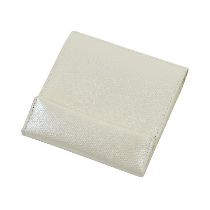 薄い財布 abrAsus アイボリーパール_0