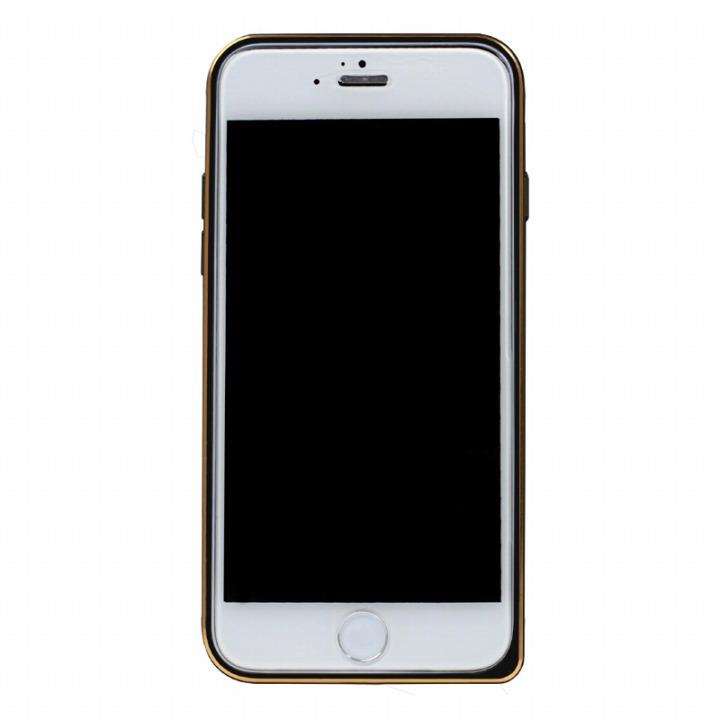 【iPhone6ケース】工具不要の超軽量7gアルミバンパー ibacks Essence ブラック(ゴールドエッジ) iPhone 6バンパー_0