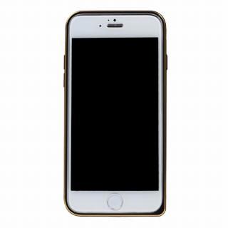 工具不要の超軽量7gアルミバンパー ibacks Essence ブラック(ゴールドエッジ) iPhone 6バンパー