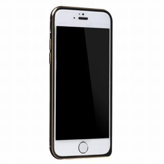 【iPhone6ケース】工具不要の超軽量7gアルミバンパー ibacks Essence ブラック(ゴールドエッジ) iPhone 6バンパー_1