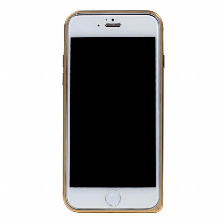 【iPhone6ケース】工具不要の超軽量7gアルミバンパー ibacks Essence ゴールド(ゴールドエッジ) iPhone 6バンパー_0