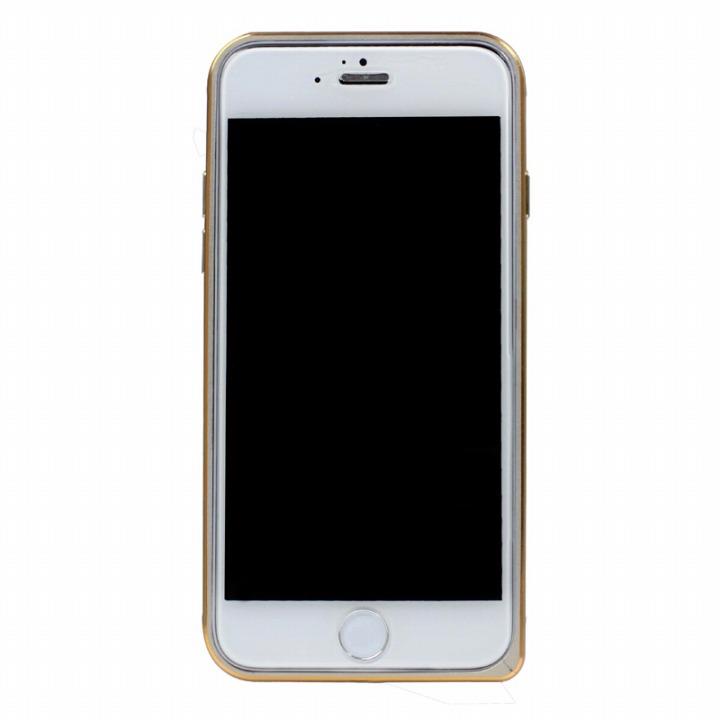 工具不要の超軽量7gアルミバンパー ibacks Essence シルバー(ゴールドエッジ) iPhone 6バンパー