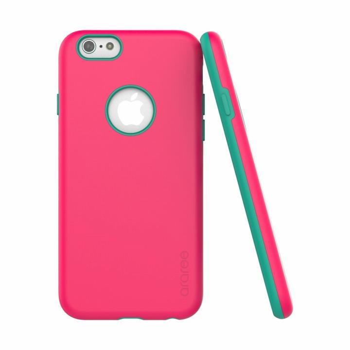 【iPhone6ケース】ツートンカラーケース araree AMY ピンク/エメラルド iPhone 6ケース_0