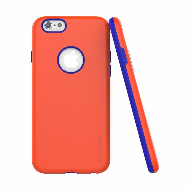 【iPhone6ケース】ツートンカラーケース araree AMY ブルー/オレンジ iPhone 6ケース_0