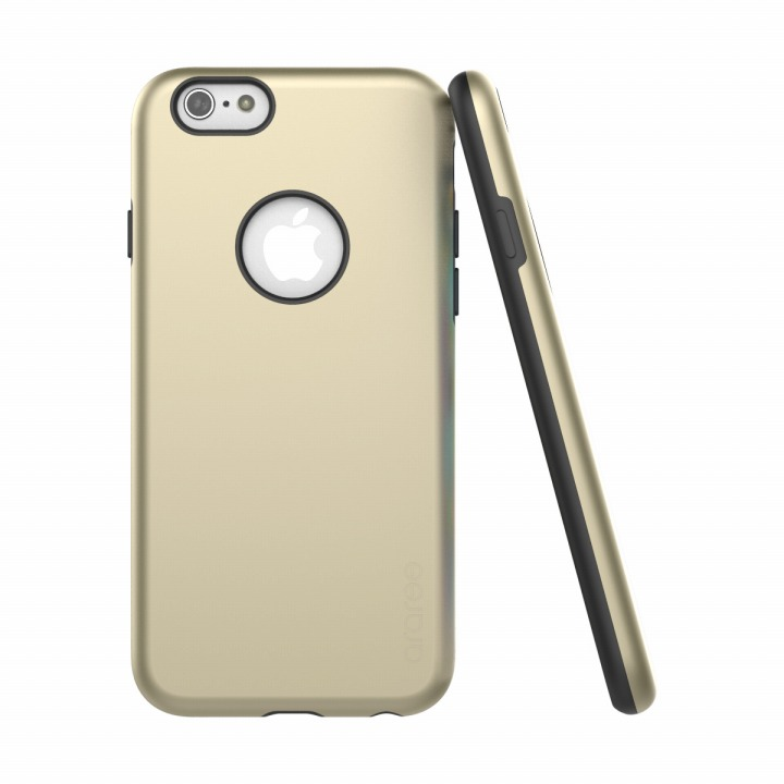 iPhone6s/6 ケース ツートンカラーケース araree AMY ゴールド/ブラック iPhone 6s/6ケース_0