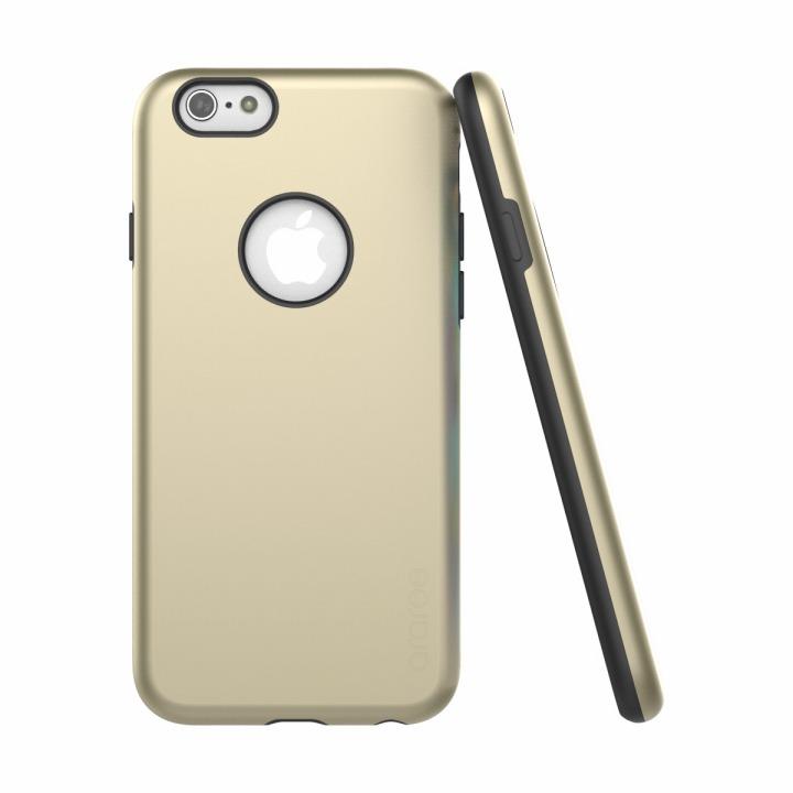 ツートンカラーケース araree AMY ゴールド/ブラック iPhone 6s/6ケース