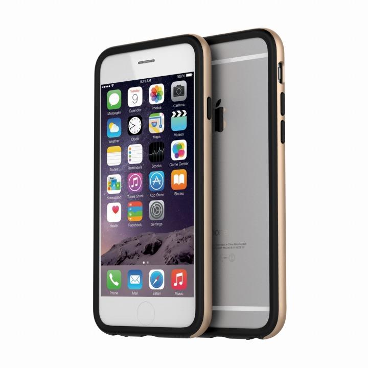 【iPhone6ケース】ツートンカラーバンパー araree HUE ゴールド/ブラック iPhone 6バンパー_0