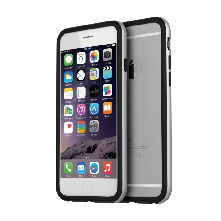 iPhone6 ケース ツートンカラーバンパー araree HUE シルバー/ブラック iPhone 6バンパー_0