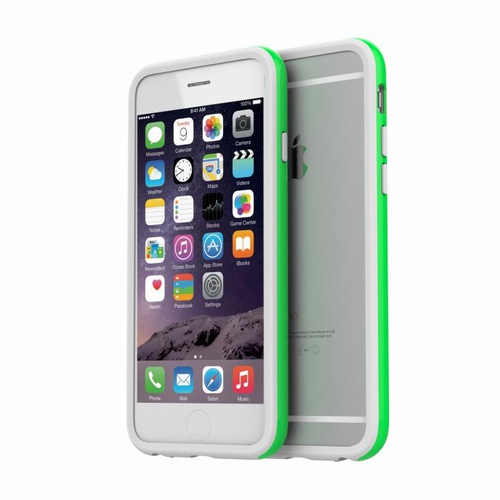 ツートンカラーバンパー araree HUE グリーン/ホワイト iPhone 6バンパー