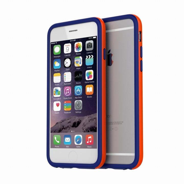 【iPhone6ケース】ツートンカラーバンパー araree HUE オレンジ/ブルー iPhone 6バンパー_0