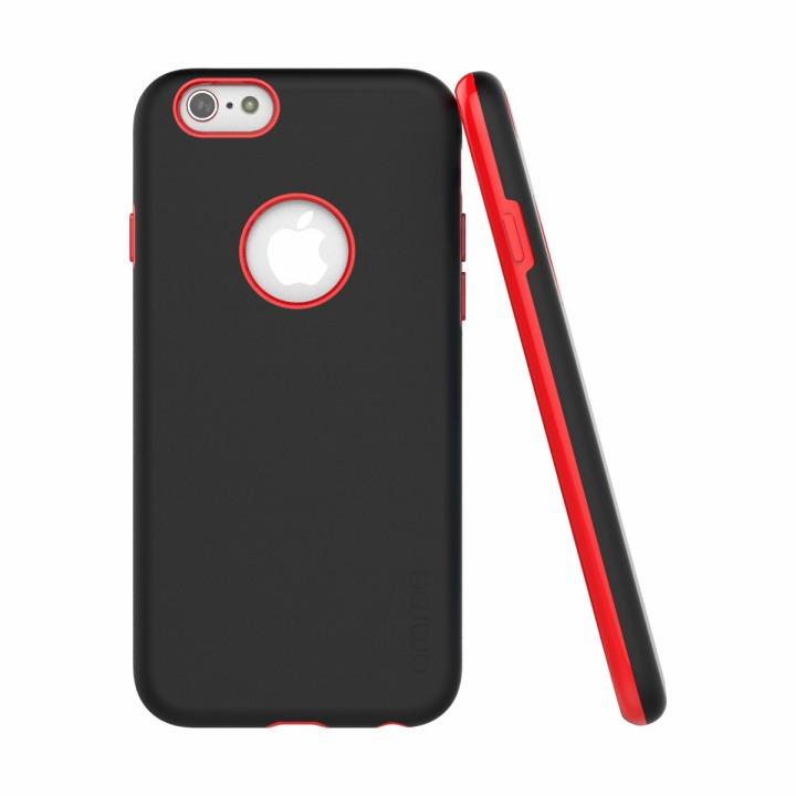 ツートンカラーケース araree AMY ブラック/レッド iPhone 6ケース