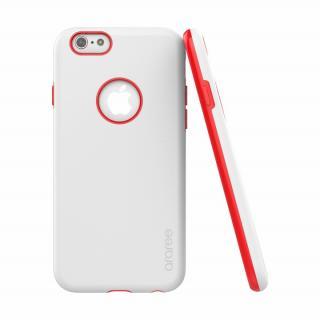 ツートンカラーケース araree AMY ホワイト/レッド iPhone 6s/6ケース