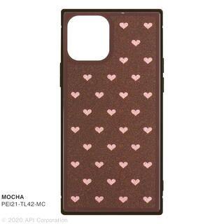 iPhone 12 / iPhone 12 Pro (6.1インチ) ケース TILE スクエア型iPhoneケース HEART MOCHA iPhone 12/iPhone 12 Pro
