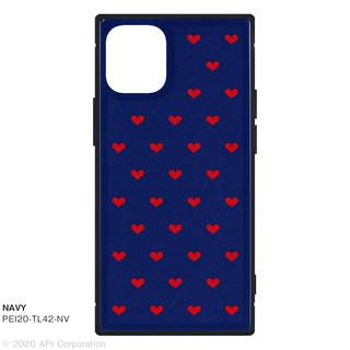 iPhone 12 mini (5.4インチ) ケース TILE スクエア型iPhoneケース HEART NAVY iPhone 12 mini
