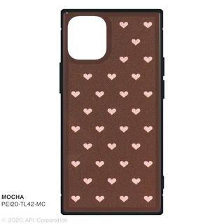 iPhone 12 mini (5.4インチ) ケース TILE スクエア型iPhoneケース HEART MOCHA iPhone 12 mini