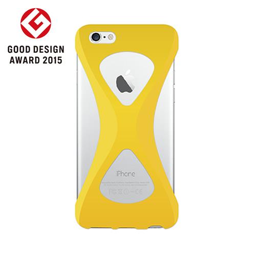 iPhone6s/6 ケース Palmo 落下防止シリコンケース イエロー iPhone 6s/6_0