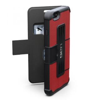 あらゆる方向の衝撃を緩和 UAG 耐衝撃性手帳型ケース レッド iPhone 6 Plusケース