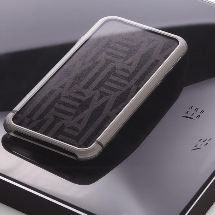 【iPhone6ケース】超々ジュラルミンA2017 SQUAIR The Edge シルバー iPhone 6バンパー_0