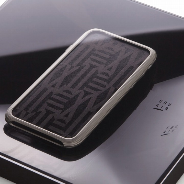 【iPhone6ケース】超々ジュラルミンA7075 SQUAIR The Dimple シルバー iPhone 6_0