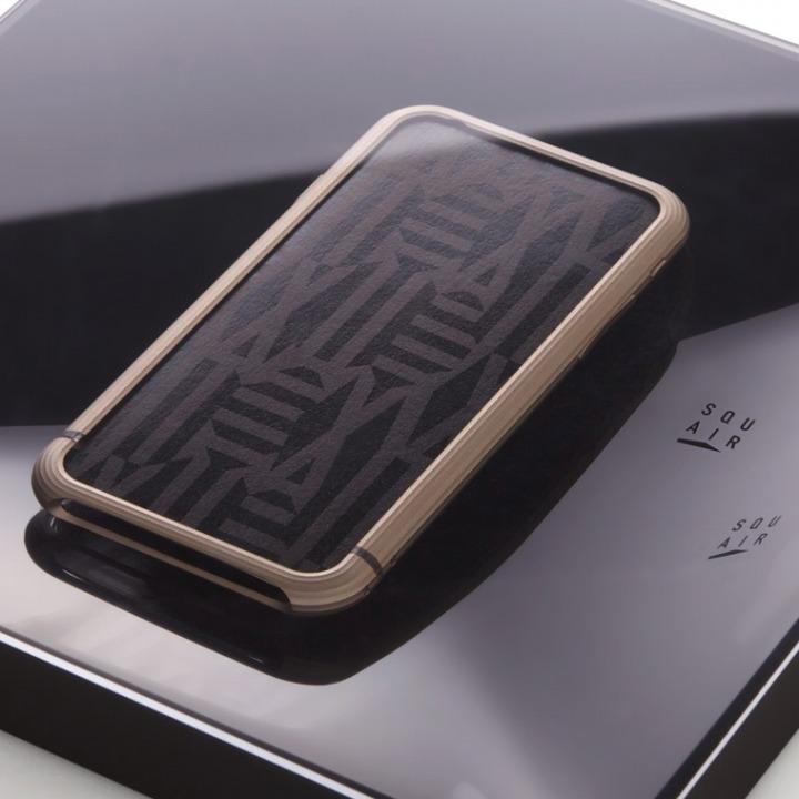 【iPhone6ケース】超々ジュラルミンA2017 15gネジなしバンパー SQUAIR The Edge ゴールド iPhone 6バンパー_0