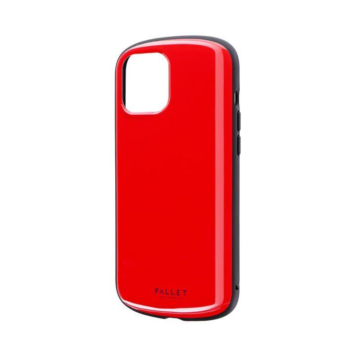 超軽量・極薄・耐衝撃ハイブリッドケース「PALLET AIR」 レッド iPhone 12 Pro Max_0